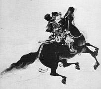 Un guerrier Nippon sur son destrier