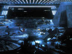 Le hangar du croiseur rebel HOME-1