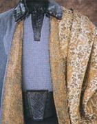 Lando porte un brocart Chinois cousu de petits Dragons