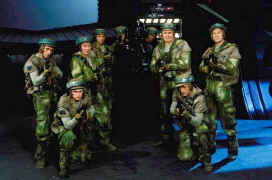 Une photo souvenir du tournage avec Vader et le commando rebel