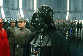 Darth Vader et le Moff Jerjeyrod à bord de la deuxième Death Star