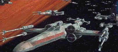 Un escadron de X-Wings