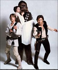 Luke, Leia, Han & Chewie