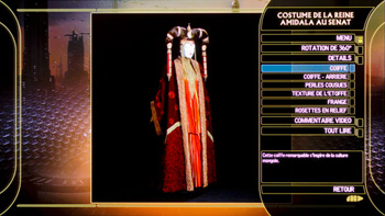 Costume de la reine Amidala au sénat