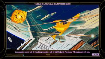 Tableau de la bataille de l'espace de Naboo
