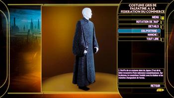 Costume gris de Palpatine à la fédération du commerce