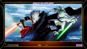 Croquis de Yoda contre Sidious