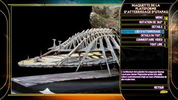 Maquette de la plateforme d'atterissage d'Utapau
