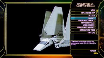 Maquette de la navette imperiale