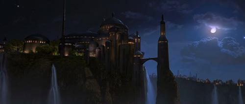 Le palais de la reine au clair de lune