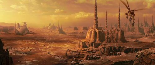 Le paysage de Geonosis