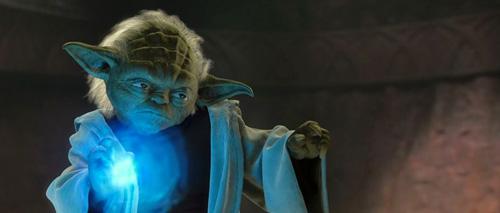 Yoda durant son duel face à Dooku