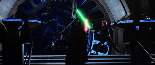 Luke affronte à nouveau Vador