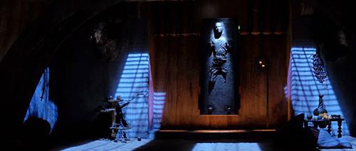 Han Solo prisonnier de la carbonite