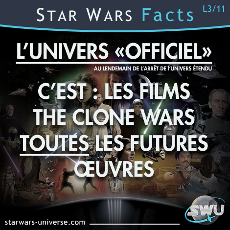 Contenu de l'univers Officiel de Star Wars