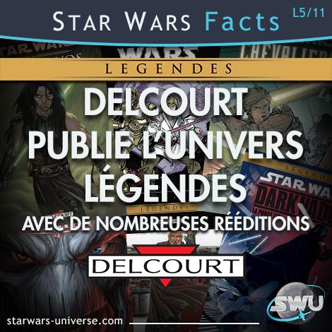 Delcourt publie l'univers Légende de Star Wars