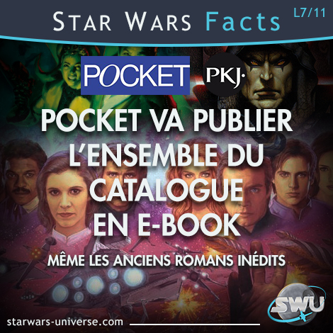 Le catalogue Star Wars de Pocket sortira en e-book