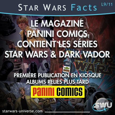 Le magazine comics de Panini contient les séries Star Wars et Dark Vador