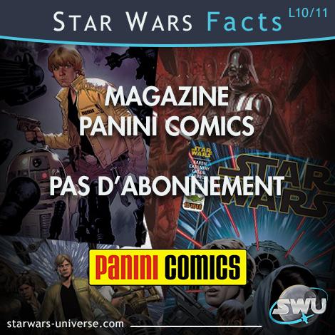 Magazine comics Panini, pas d'abonnement