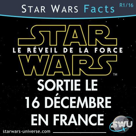 Star Wars : <a href='/livre-1412-le-reveil-de-la-force.html' class='qtip_motcle' tt_type='livre' tt_id=1412>Le Réveil de la Force</a> sortie le 16 décembre 2015