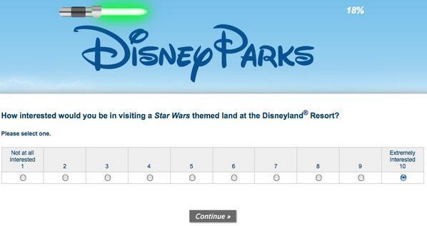 Questionnaire Star Wars Land