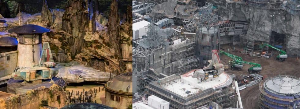 Comparaison Maquette-réalité Galaxy's Edge