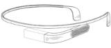 Design récemment breveté des Google Glass 2