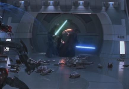 Les Jedi sur le point de s'enfuir en super-vitesse