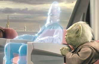 Un hologramme au conseil Jedi