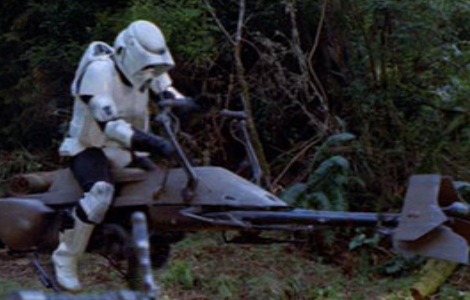 Le speeder bike d'un scout trooper