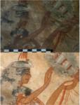 Restauration d'une peinture de l'Égypte antique