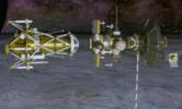 Vue d'artiste de la séparation de la sonde et du module