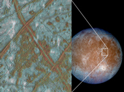 Photographies d'Europe prisent par la sonde Galileo