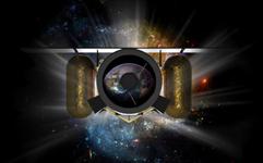 Le télescope LEO scrutant l'espace à la recherche d'astéroïdes (vue d'artiste)