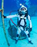 Un aquanaute de la mission NEEMO