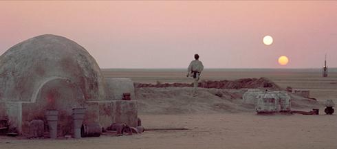 Le fameux couché des soleils de Tatooine