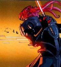 Dark Maleval, abattu dans le dos par Anson, pour protéger son camarade <a href=