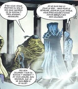 xanif assiste à la transmission holographique qui va sceller son destin