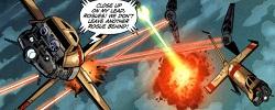 Andurgo affronte les chasseurs Sith-impériaux avec l
