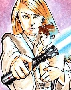 Venku dans les bras de sa mère