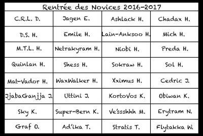 Rentrée des classes SWU 2016-2017