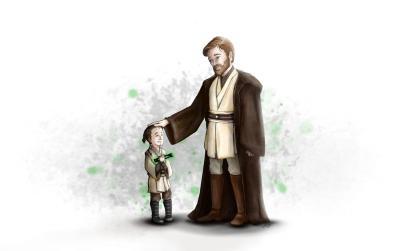 Padawan Jinn and Master Kenobi