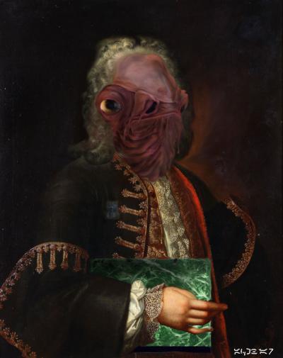 Autoportrait de Sieur Ackbar, Duc d'Endor