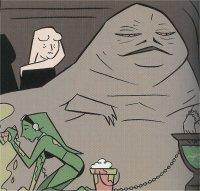 Jabba à la douche