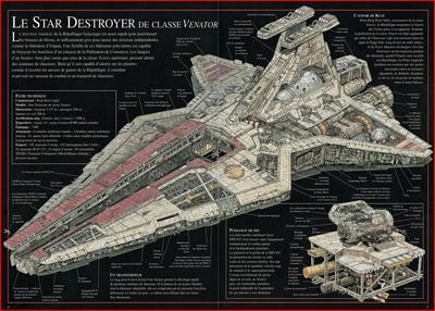 Star wars la revanche des sith plans secrets des vaisseaux for Interieur vaisseau star wars