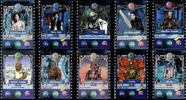 Carte Défi du Jedi BN Chewbacca avec C.E.