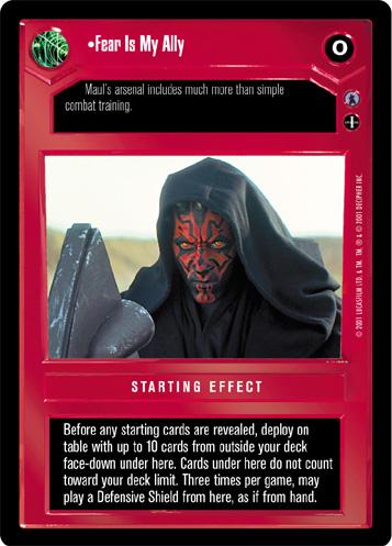 Star Wars CCG Reflections III 3 Premium Energy Walls Dark Side