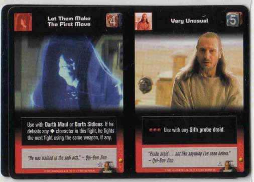 Star Wars Young Jedi CCG Jedi Council Let Them Make The First Move # 122