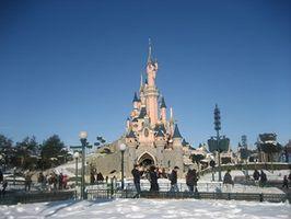 Chateau Disneyland Paris sous la neige