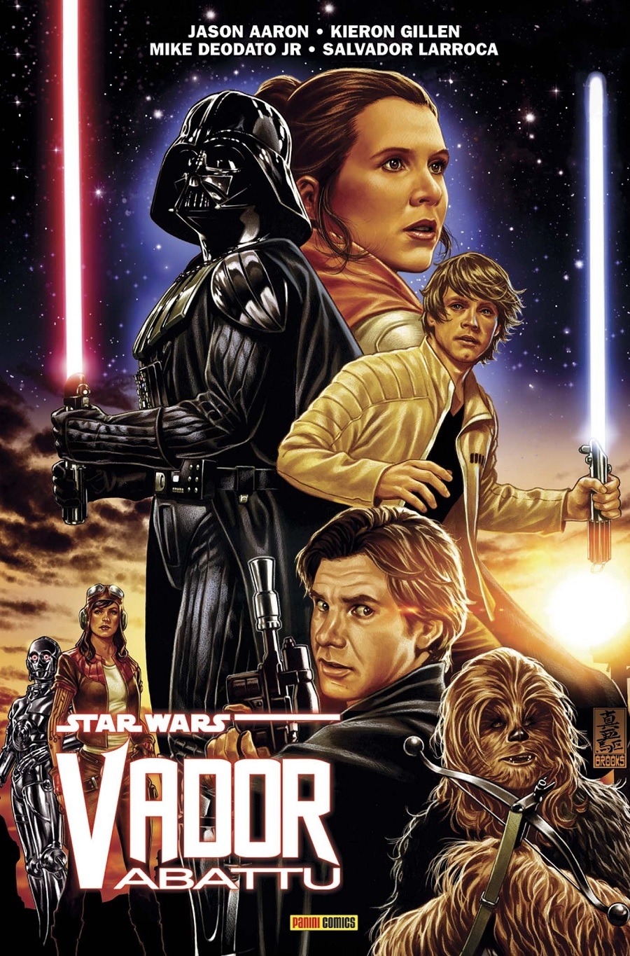 100% Star Wars <a href='/livre-1142-vador.html' class='qtip_motcle' tt_type='livre' tt_id=1142>Vador</a> Abattu Couverture